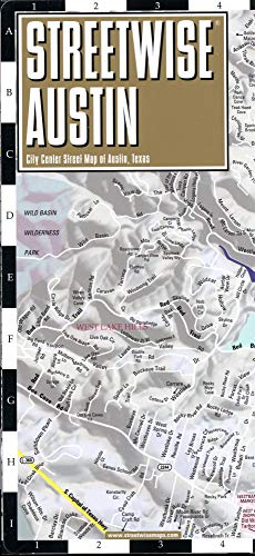 Streetwise Austin Map: Laminated City Center Map of Austin, Texas (Michelin Streetwise Maps)