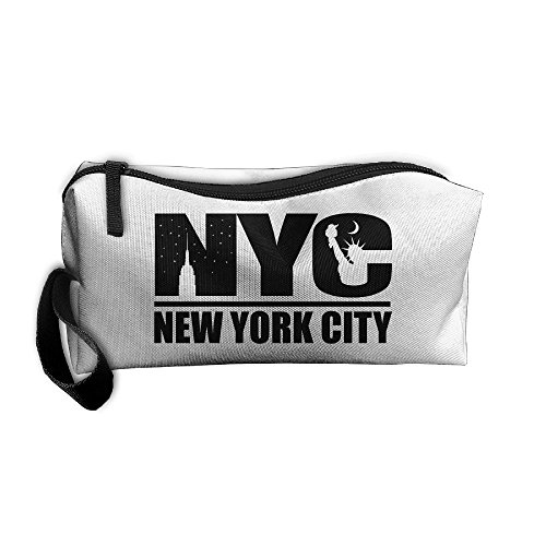 New York City Logo Cosmetic Bags Brush Pouch Makeup Bag Zipper Wallet Hangbag Pen Organizer Carry Case Wristlet Holder]()