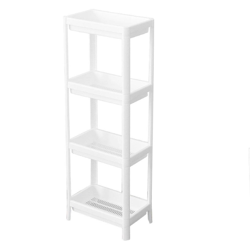 HY Bathroom Shelf Plastic Vanity Storage Rack White Storage Rack (Size : L36CMW23CMH100CM)