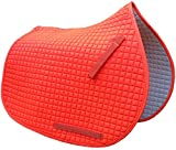 Neon Hunter Safety Blaze Orange All-purpose English Saddle Pad