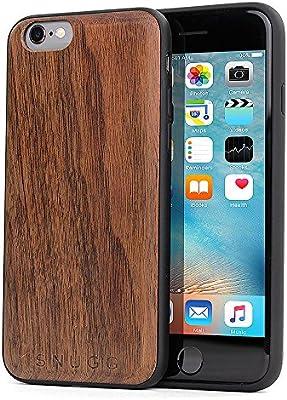 Snugg Funda iPhone 6 y 6S, Carcasa Anti-Impactos para Apple iPhone 6 y 6S [Madera Genuina] Ultrafina Revestimiento de TPU - Nuez