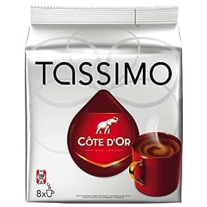 Kraft Tassimo Côte D'Or - Café, 6 T-Discs (8 Cápsulas), 3-Pack (3 x 380 g)