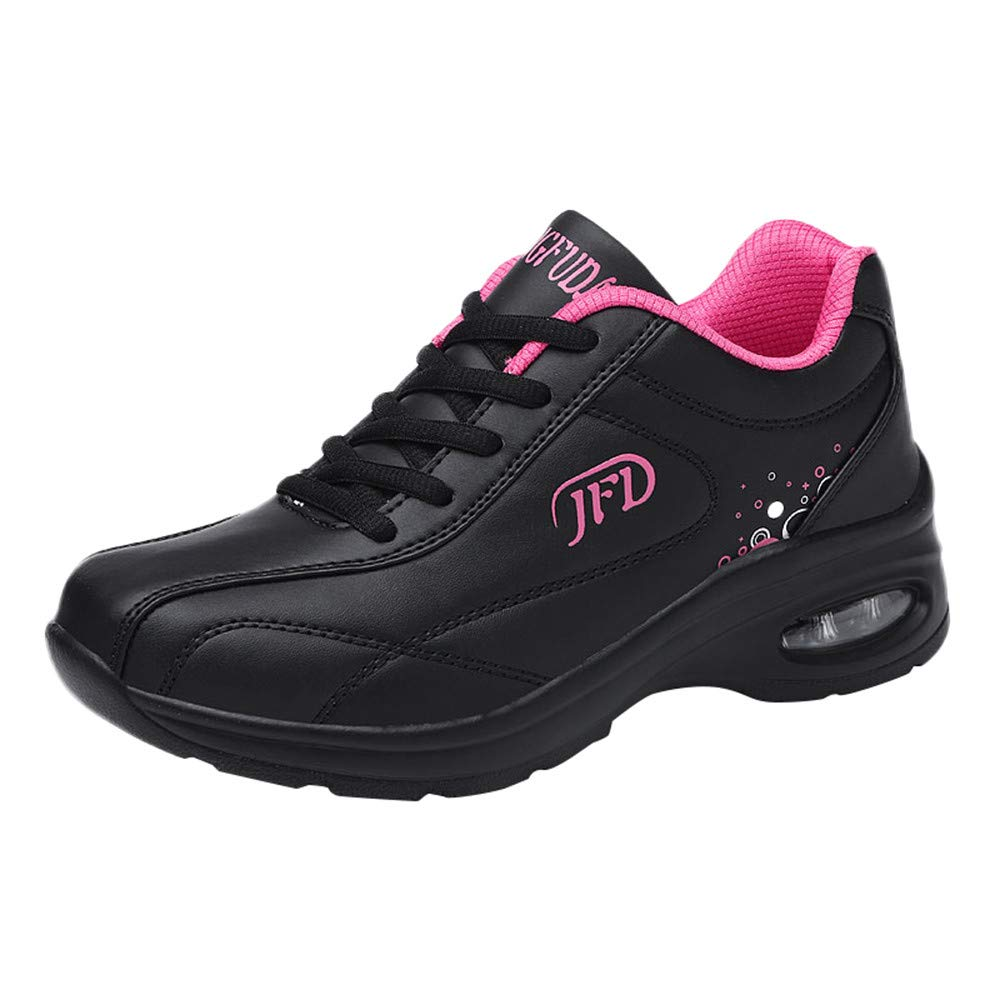 Sylar Zapatillas De Deporte para Mujer Invierno Parte Superior De PU Mantener Caliente Có modo Suelas Blandas Cojí n De Aire Zapatillas De Cordones