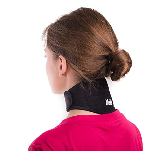 Neck Pain Relief Wrap by Mello - Chronic Neck Stiffness Brace-Soft Cervical Support Collar-Health Magnet Physical Therapy for Migraines Headache -Comfortable Air, Car (Magnetic Shoulder Collar)