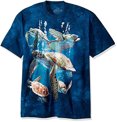 The Mountain Men's Big and Tall Sea Turtle Family, Blue, 5XL