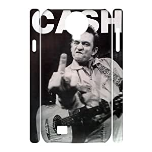 ZK-SXH - Johnny Cash Customized 3D Hard Back Case for SamSung Galaxy S4 I9500,Johnny Cash Custom 3D Cover Case