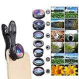 DOOLST 7 In1 Phone Camera Lens Fisheye 0.36X Wide Angle Macro Increase Polarizationuniversal External Phone Lens Camera Lens Kit