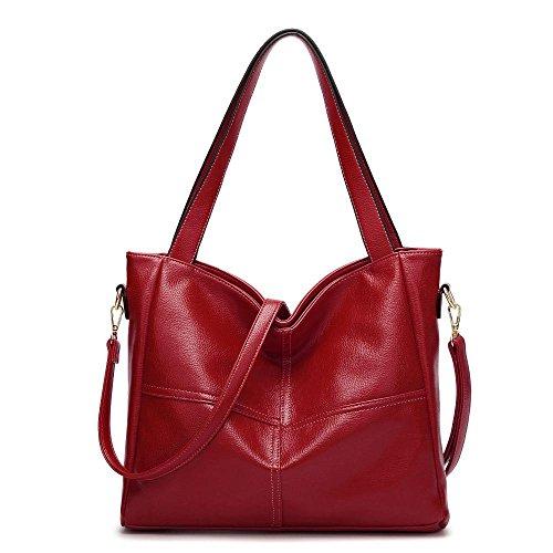 Word Penao diagonale modello singola One 36cmx10cmx31cm Tote Rosso spalla Lady Fashion diagonale Bag Litchi dimensioni Hundred 11qwrH8