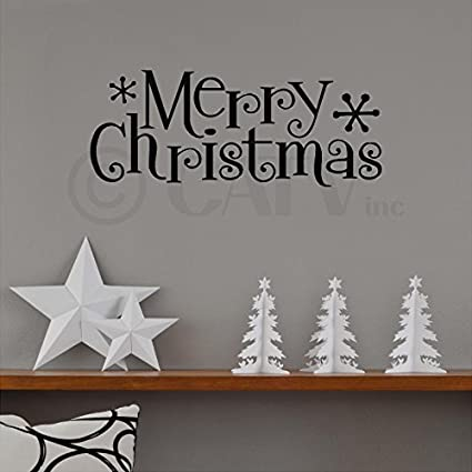 merry christmas wall saying vinyl lettering home decor decal stickers quotes - Christmas Wall Decor