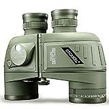 USCAMEL 10x50 Binoculars, Waterproof Anti-fog Rangefinder Compass, Military Hunting, Military Green