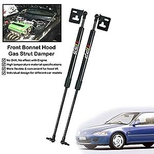 Amazon.com: Front Hood Bonnet Gas Shock Strut Damper Lift Supports Fits For Honda Civic EG ...