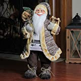 Northlight 24″ Natural Country Brown Standing Santa Claus Christmas Figure with Sled and Gift Bag Review