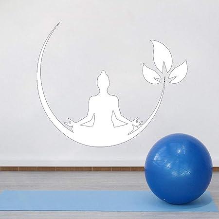Zaosan Yoga Meditación Vinilo Adhesivo de Pared Dormitorio ...