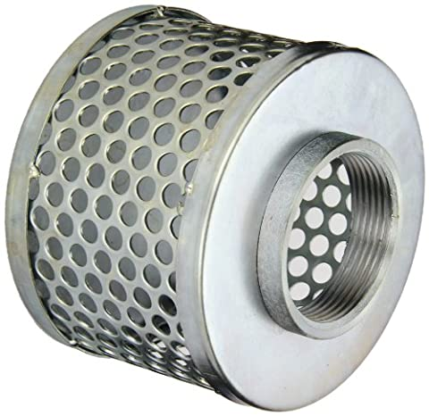PT Coupling Carbon Steel Round Hole Pump Suction Strainer, 2-1/2