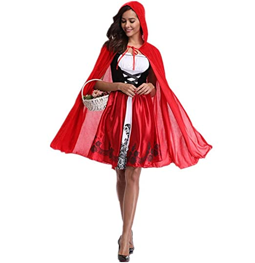 Amazon Phyxin Little Red Hood Costume Halloween Cosplay Party