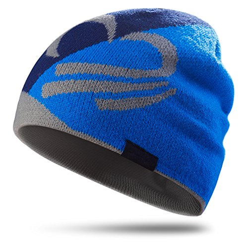 Topnaca Skull Caps Helmet Liner Running Daily Beanie Hat for Men Women, Covers Ears Ultimate Thermal for Hiking Climbing Cycling Football (Royal Blue)