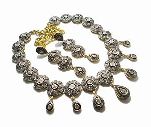 Amazon.com: costozon uncut necklace 15.5 Tcw Rose Cut