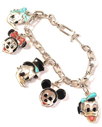 - Nizhoni Traders LLC Don Dewa Zuni Sterling Silver Multi-Stone Mickey Mouse Inlay Bracelet