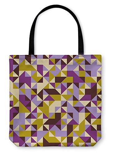 Gear New Shoulder Tote Hand Bag, Geometric Pattern, 18x18, - Frame Bags Optical Sample