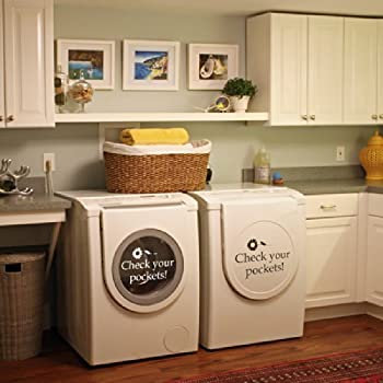 Amazon Com Check Your Pockets Vinyl Laundry Room Wall