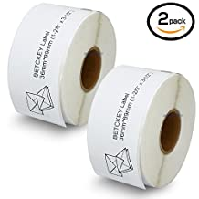 """2 Rolls DYMO 30321 Compatible 1-2/5"""" x 3-1/2""""(28mm x 89mm) Large Address Labels,Compatible With Dymo 450, 450 Turbo, 4XL And Many More"""