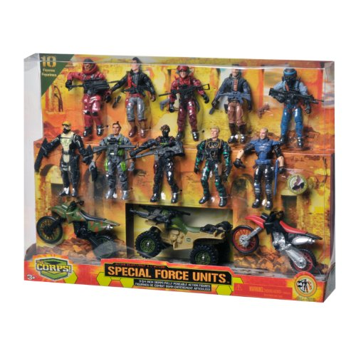 Action Figures (The Corps Special Forces Action Figures and Vehicle Deluxe)
