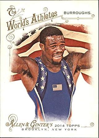 975e5ede5069f Amazon.com: 2014 Allen and Ginter #191 Jordan Burroughs Wrestler ...