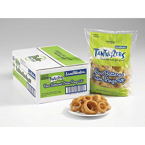 Lamb Weston Tantalizers Beer Battered Onion Ring - Appetizer, 2.5 Pound -- 4 per case. (Best Frozen Onion Rings)