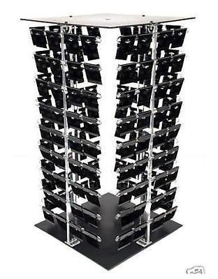 New Acrylic Rotating Earring Display Stand Revolving With 200 Black Earring Cards