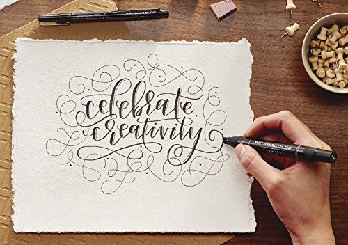 Large Product Image of Prismacolor Premier Beginner Hand Lettering Set with Illustration Markers, Art Markers, Pencils, Eraser and Tips Pamphlet, 8 Count