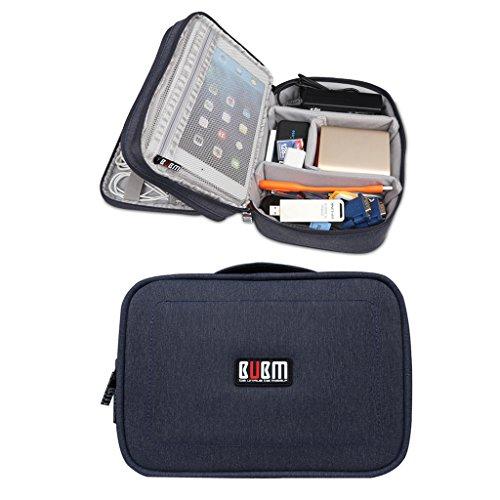 BUBM Kopfhörer Wasserdicht doppelte Schichten Reise Gadget Veranstalter Fall, Elektronik Zubehör Tasche