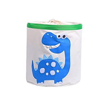 Home & Garden Cute Cartoon Animal Toys Organizer Dinosaur Panda Dog Kids Clothes Laundry Basket Waterproof Folding Toy Storage Box With Cover Storage Boxes & Bins