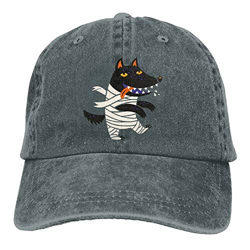 Wolf Halloween Costume Denim Hat Adjustable Men's Curved Baseball -