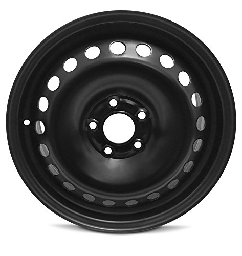(Road Ready Car Wheel For 2014-2018 Ford Transit Connect 16 Inch 5 Lug Black Steel Rim Fits R16 Tire - Exact OEM Replacement - Full-Size Spare)