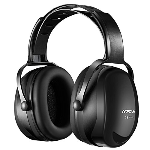 Mpow [Upgraded] Noise Reduction Safety Ear Muffs, SNR 36dB Shooting Hunting Muffs, Hearing Protection with a Carrying Bag, Ear Defenders Fits Adults To Kids with Twist Resistant Headband- Black (Best Ear Protection For Nascar Race)