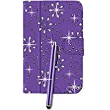 Gadgetinbox Purple - Bling Design Universal Leather Protective Folio Pu Leather Case Stand Cover For All 9.7