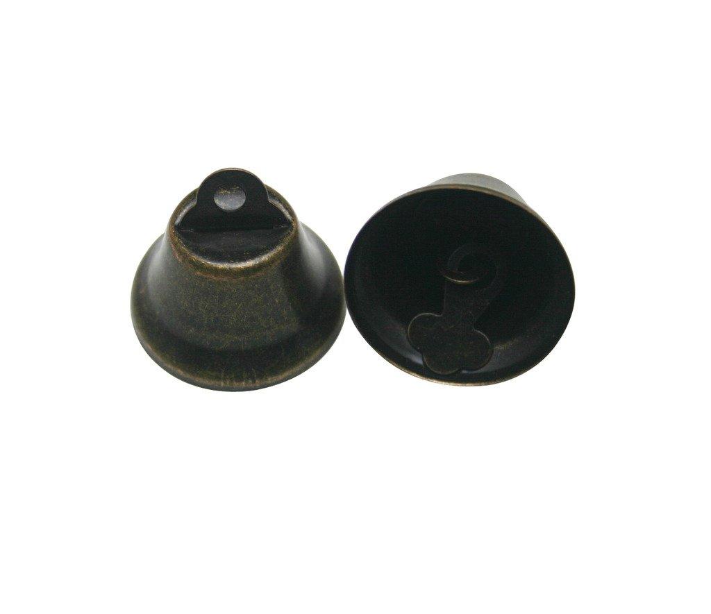 Generic - Campanella in bronzo, per collare animali, diametro: 2,54 cm, confezione da 10 Tianbang