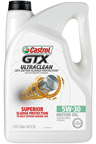 Price comparison product image Castrol 03096 GTX 5W-30 Conventional Motor Oil - 5 Quart