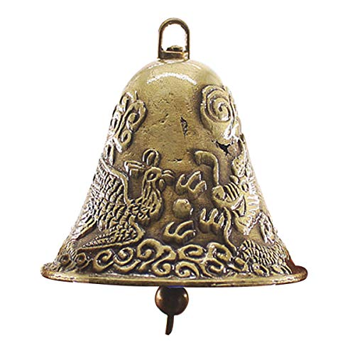 60x65mm Antique Golden Cow Bell NosieMaker Zinc Alloy Animal Sheep Dog Bell Cowbell Decorations -