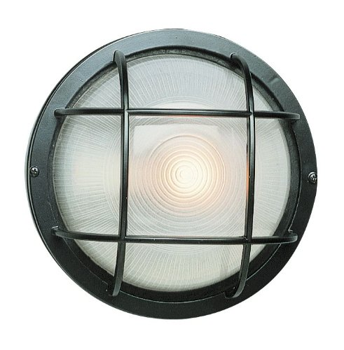 "Trans Globe Lighting 41515 BK Outdoor Aria 10"" Bulkhead, Black"