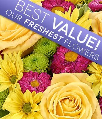 Flowers - Designer's Choice Mixed Bouquet (Free Vase Included)