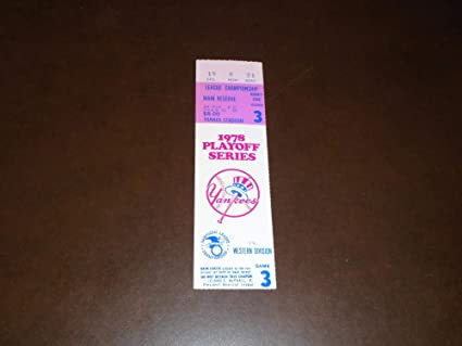 NY Yankee Ticket Stubs 2010 Season 27 World Championships