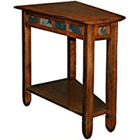 Bowery Hill Recliner Wedge End Table in Rustic Oak