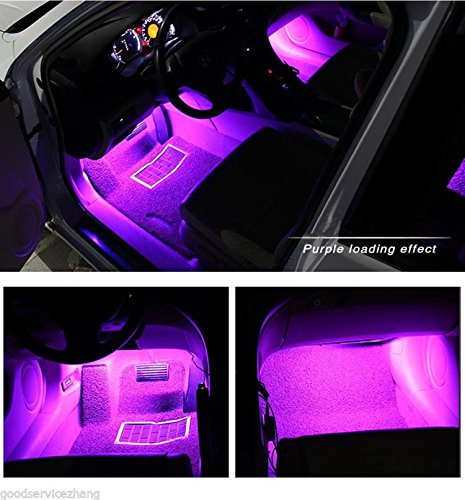 automotive, lights & lighting accessories, accent & off road lighting, led & neon lights,  neon accent lights  discount, HengJia Auto Parts LED Car Interior Floor Decorative Atmosphere Lights Strip Waterproof Glow Neon Interior Decoration Lamp?pink? promotion1
