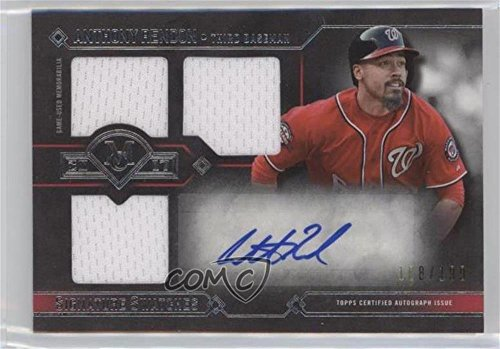 Anthony Rendon #108/199 (Baseball Card) 2017 Topps Museum Collection - Signature Swatches Single Player Triple Relic Autographs #TRA-AR