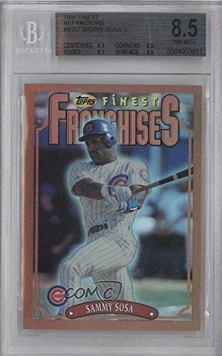 Sammy Sosa BGS GRADED 8.5 (Baseball Card) 1996 Topps Finest - [Base] - Refractor #257 (Refractor 1996 Finest)