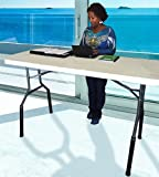 Standing Desk - for back pain relief - Stand up desk kit - Instantly Converts any folding table to FULL SIZED Sit/Stand Desk - Lift Your Table STANDING DESK Kit – Easily Portable - NO TOOLS REQUIRED