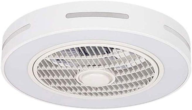 MYXMY Ventilador de techo con iluminación, Ventilador Ventilador de techo de luz LED, velocidad del viento ajustable, control remoto regulable, luz de techo moderna, Restaurante dormitorio, LED blanco