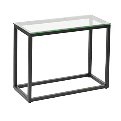 detailed look 6731a 9ed63 Amazon.com: Perfect Furniture Sofa Side Table, Glass ...