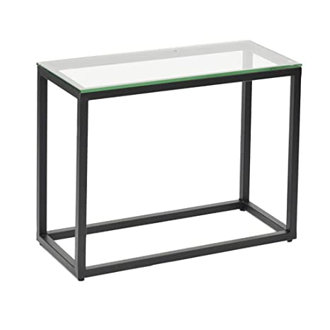 Amazon.com: Perfect Furniture Sofa Side Table, Glass ...